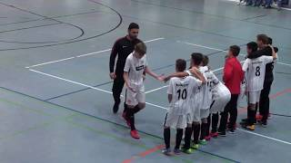 U13 Jhg2005 1. FC Nürnberg - Eintracht Frankfurt 5:4 n9M; HALBFINALE  evm Junior Cup 10.12.17