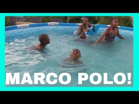 Swimming Pool FUN playing MARCO POLO!