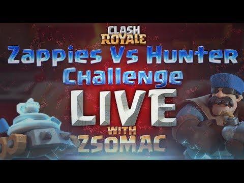 Zappies Vs Hunter Challenge | Clash Royale Magyarul