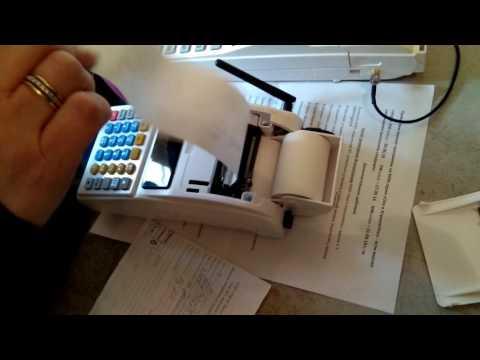 Установка чековой ленты в кассовый аппарат ОКА МК МФ