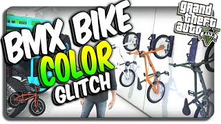 GTA 5: BMX Bike COLOR Change GLITCH! Change Color of BMX Bikes (GTA 5 Online Glitches)