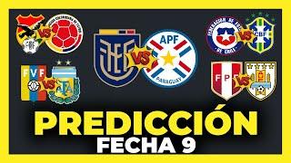 Predicción y Análisis Fecha 9 Eliminatorias Sudamericanas Qatar 2022   Tabla de Posiciones ⚽🏆