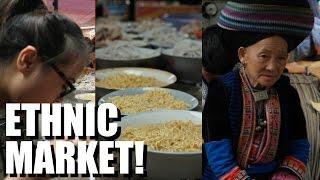 VIETNAM: Eating and Exploring an ETHNIC MARKET. Meo Vac, Ha Giang
