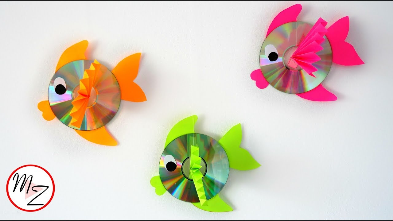 Wall Hanging Cd Fish Recycling Ideas With Cds Kids Crafts Ideas
