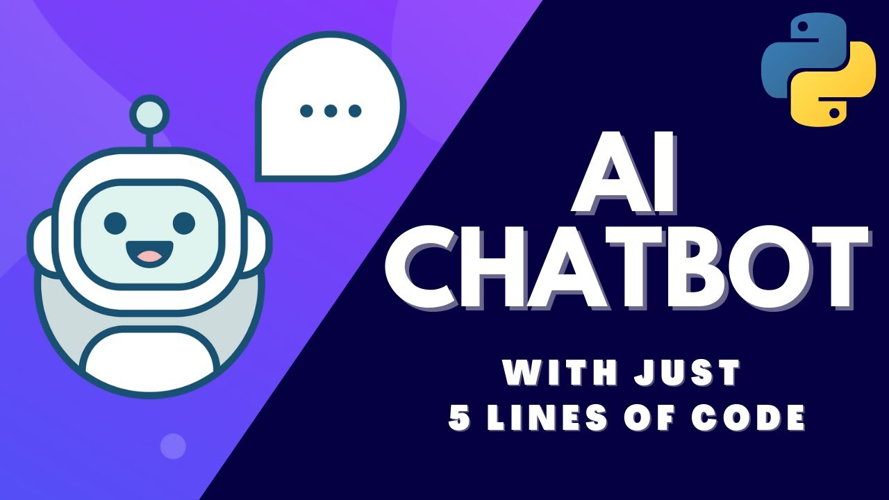 How to Make an AI Chat Bot with Just 5 Lines Of Python Code in 2021!