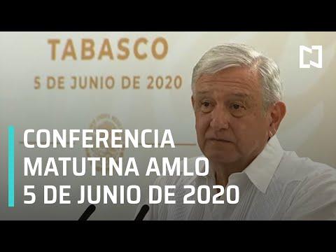 Conferencia matutina AMLO/ 5 de junio de 2020