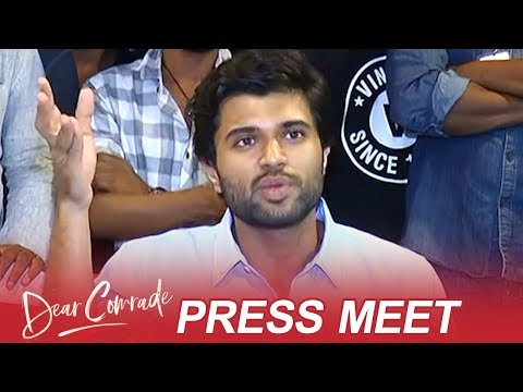 Vijay Devarakonda Press Meet About Dear Comrade At Kakinada | TFPC
