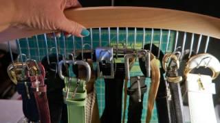 Multifunctional Wooden Tie/belt Hanger From J.s Hangers
