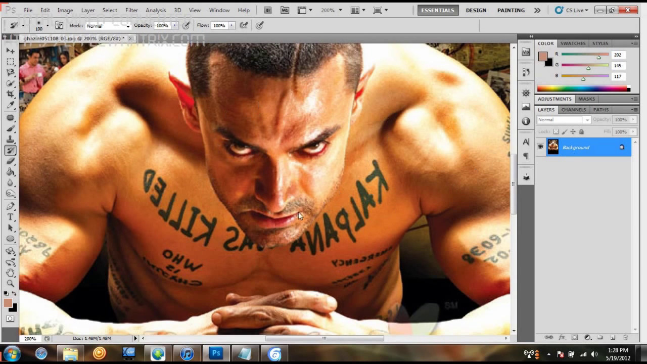 Photoshop Cs5 How To Remove Hair Fast Youtube