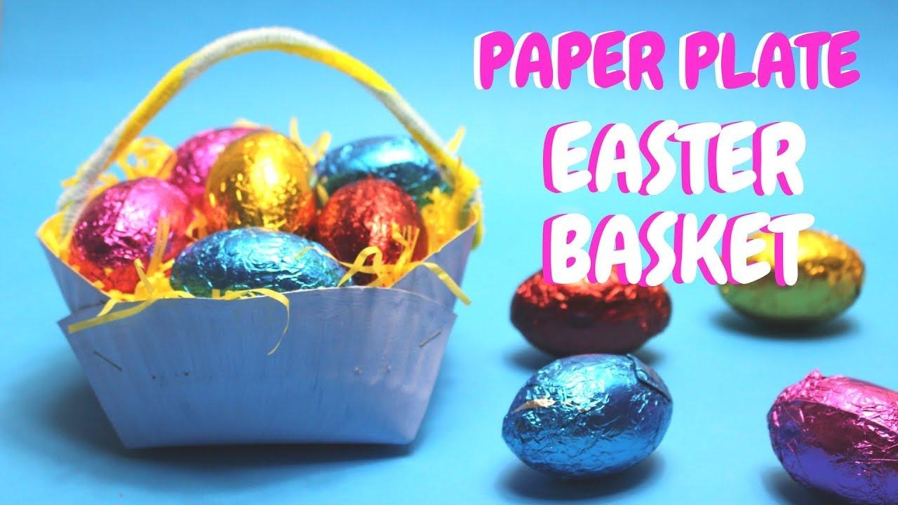 Paper Plate Easter Basket Easter Crafts For Kids Youtube