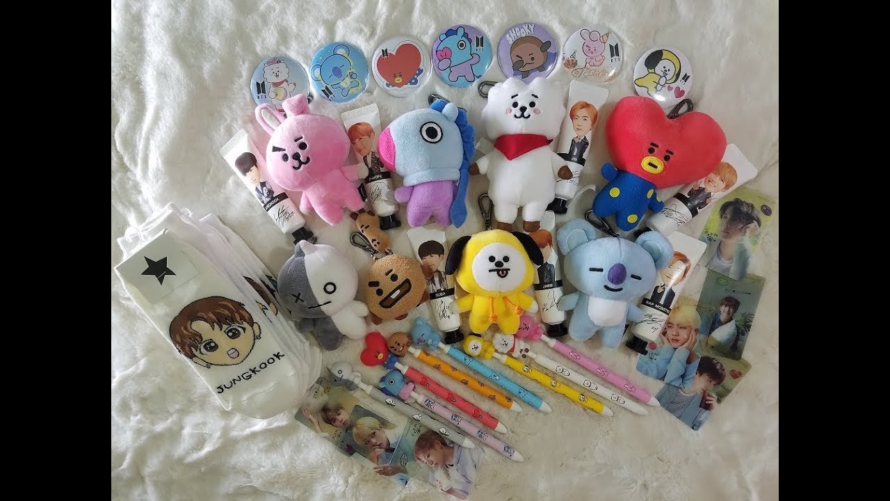 Bts 방탄소년단 Ot7 Collection Bt21 Unofficial Merch And Photocards Youtube