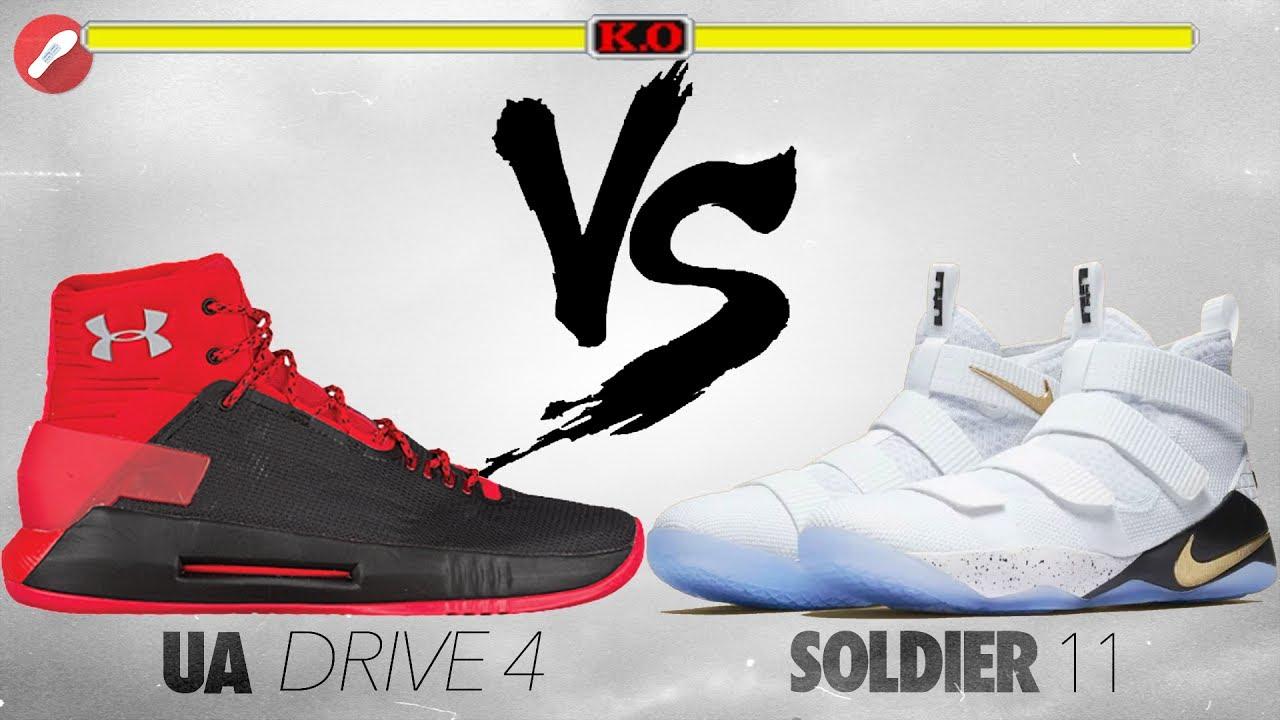 a473221f826d UA Drive 4 vs Nike Lebron Soldier 11! - YouTube