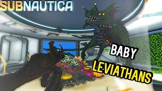 One of Anthomnia's most viewed videos: Subnautica - CAGED BABY LEVIATHANS, NEW SEA EMPEROR ANIMATIONS & SEA DRAGON BIG AS MAP? ( Gameplay )