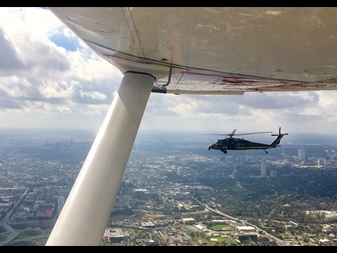Watch as a Black Hawk intercepts a Civil Air Patrol Cessna 182