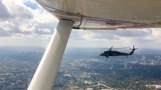 Black Hawk Intercepts a Cessna 182