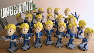 FALLOUT 4 VAULT BOY BOBBLEHEADS COLLECTION UNBOXING