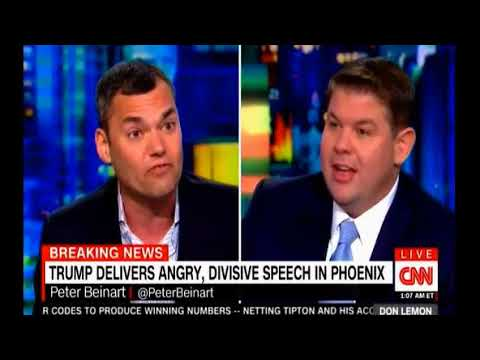 CNN discusses Trump's Phoenix speech Breitbart staff members defends the comments