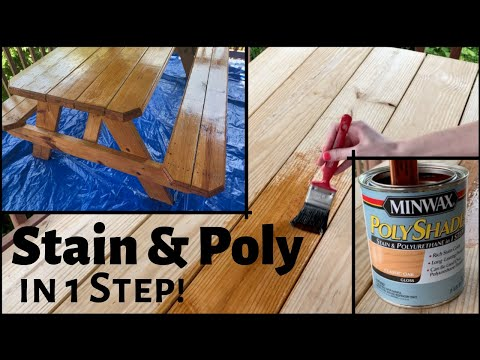 How to Stain and Polyurethane in 1 Step   Testing MinWax PolyShades   Tutorial Tuesday Ep 89