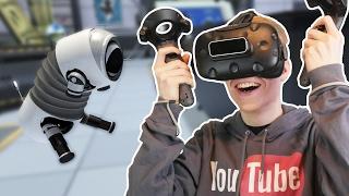 CUTEST DOG EVER! | The Lab: VR Slingshot (HTC Vive Gameplay)