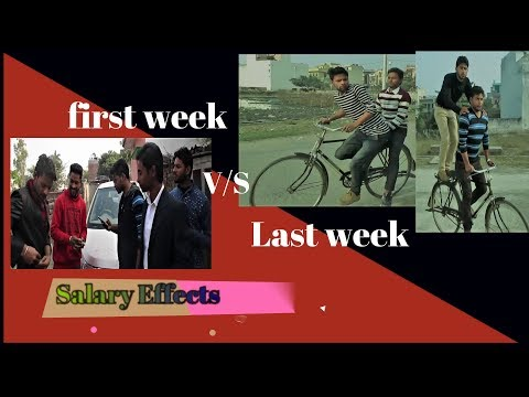 salary effects- first week V/S Last week of month/timepass Academy/comedy video/ full fun