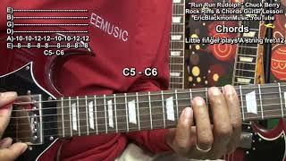 How To Play RUN RUN RUDOLPH Chuck Berry On Guitar Eric Blackmon Guitar