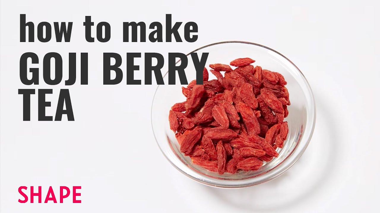 How To Make Goji Berry Tea Shape Youtube