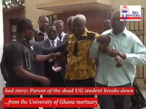 Sad Story: Parents of deceased UG student break down at mortuary