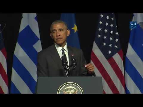President Barack Obama Athens, Greece...