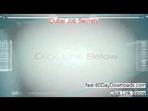 Dubai Job Secrets Review (First 2014 PDF Review)