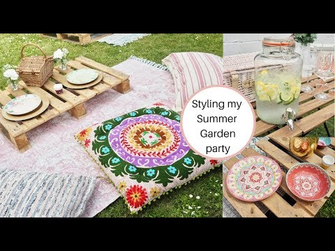 Styling my garden party, relaxed boho festival style