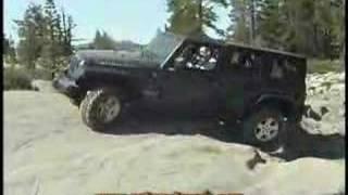 2007 Jeep Wrangler on the Rubicon trail