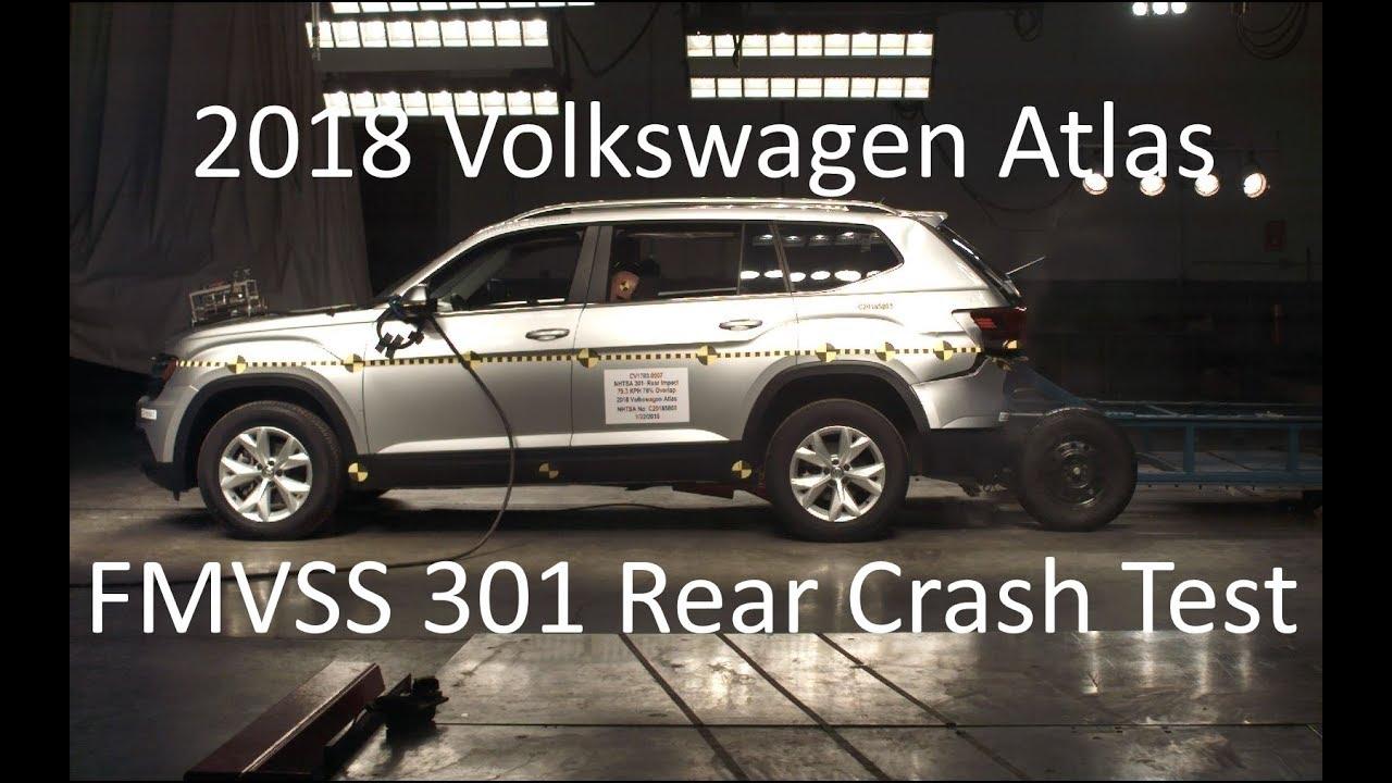 2018-2020 Volkswagen Atlas FMVSS 301 Rear Crash Test (50 Mph)