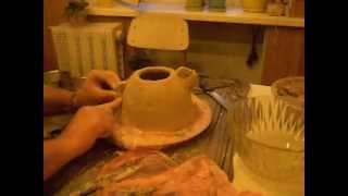 Как просто сделать и обжечь глиняный чайник.(Музыка: HVARNA., 2012-04-21T15:19:31.000Z)