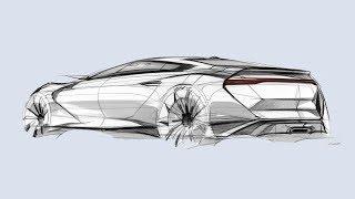 자동차 스케치 & 디자인(Rear Quarter Vew)