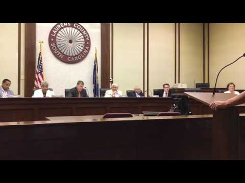 RAW VIDEO: Stewart Jones explodes at Laurens County Council meeting