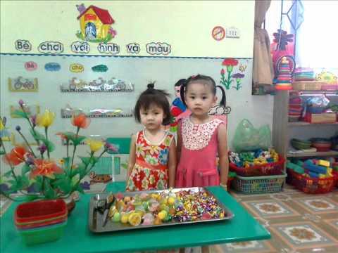 Sinh nhat Minh Huyen 3 tuoi o truong mam non Hoa Sen Dong Anh