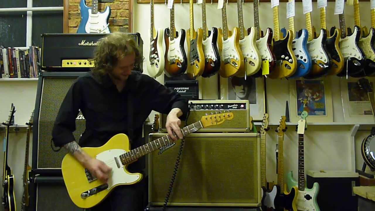 1968 Fender Telecaster 1964 Tremolux Amp Full Volume