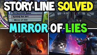 "*NEW* Fortnite ""MIRROR OF LIES"" SEASON 4 STORY LINE EXPLAINED! OMEGA'S REAL ENEMY THE ""VISITOR"""