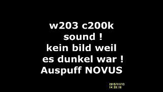W202 C200D Novus Sportauspuff GruppeN 2x76mm Mercedes C-Klasse Lim