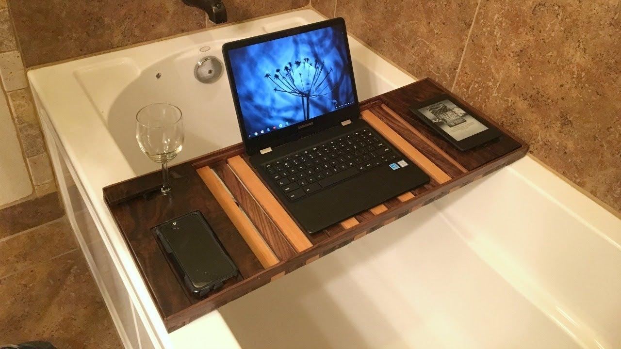 Making a Walnut Bath Caddy - YouTube