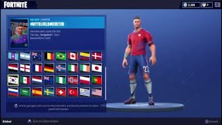 FORTNITE - Football Jerseys [Skins] World Cup 2018