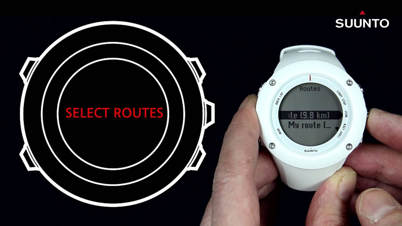 Suunto Ambit2 Ambit3 How To Navigate With A Preset Route Youtube