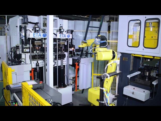 20KVA Servoelektrischer Doppelkopf-Bestücker mit Presse und Roboterarm