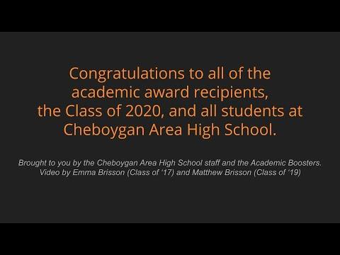 Cheboygan Area High School Academic Awards 2020