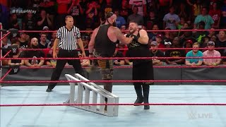 WWE Wal3ooha: برون سترومان يفوز النزال الرباعي في راو