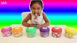 M&M Candy for Learning Colors with Ishfi