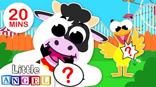 What Does the Animal Say? | Animal Sounds | Songs for Kids & Nursery Rhymes by Little Angel