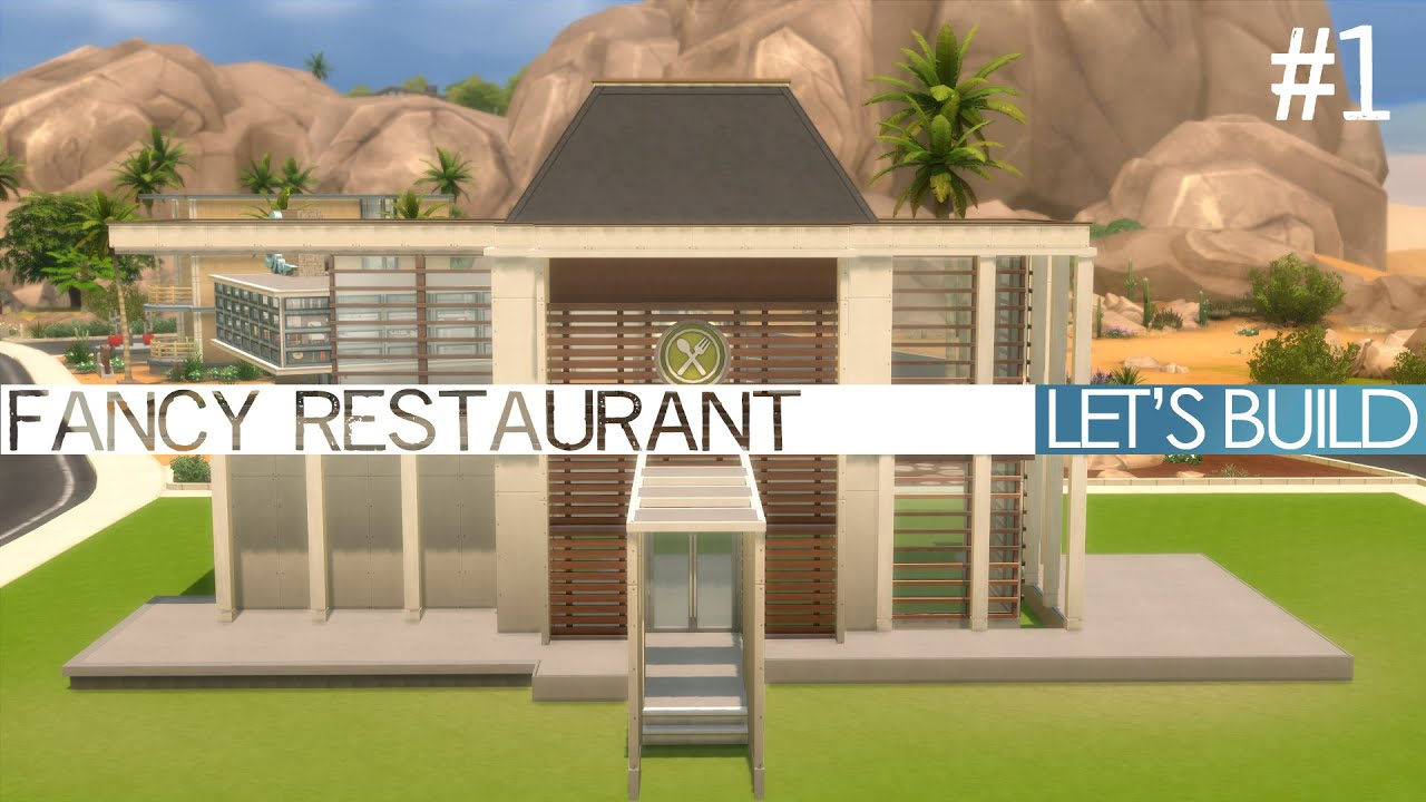 The sims dine out let s build a fancy restaurant