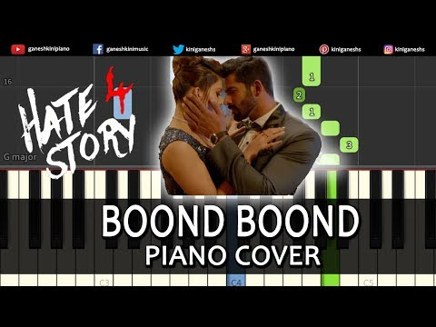 Boond Boond Song Hate Story IV | Piano Cover Chords Instrumental By Ganesh Kini