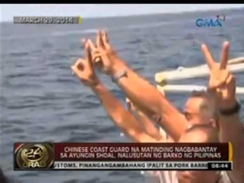 Chinese Coast Guard na matinding nagbabantay sa Ayungin Shoal, nalusutan ng barko ng Pilipinas